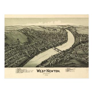 Aerial View of West Newton, Pennsylvania (1900) Postcard