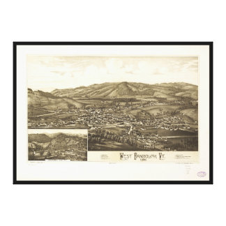 Aerial View of West Randolph, Vermont (1886) Canvas Print