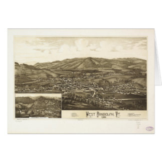 Aerial View of West Randolph, Vermont (1886) Card