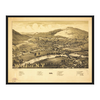 Aerial View of Windsor, New York (1887) Canvas Print