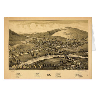 Aerial View of Windsor, New York (1887) Card