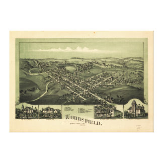 Aerial View of Woodsfield, Monroe Co. Ohio (1899) Canvas Print