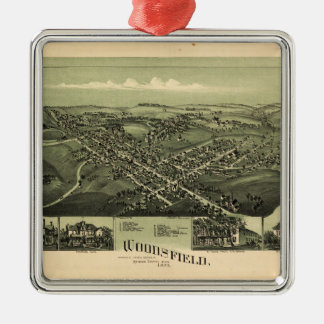 Aerial View of Woodsfield, Monroe Co. Ohio (1899) Metal Ornament