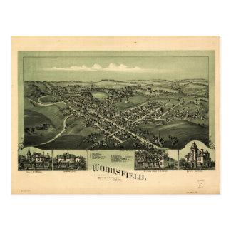 Aerial View of Woodsfield, Monroe Co. Ohio (1899) Postcard