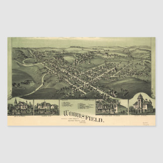 Aerial View of Woodsfield, Monroe Co. Ohio (1899) Rectangular Sticker