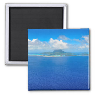 Aerial view over Bora Bora magnet