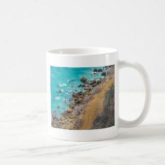Aerial View Pacific Ocean Coastline Puerto Lopez E Coffee Mug