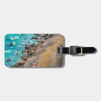 Aerial View Pacific Ocean Coastline Puerto Lopez E Luggage Tag