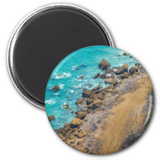 Aerial View Pacific Ocean Coastline Puerto Lopez E Magnet