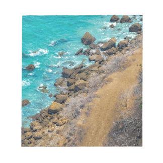 Aerial View Pacific Ocean Coastline Puerto Lopez E Notepad