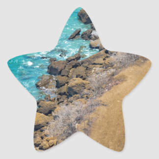 Aerial View Pacific Ocean Coastline Puerto Lopez E Star Sticker