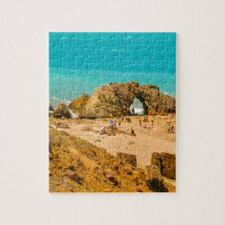 Aerial View Pedra Furada Jericoacoara Brazil Jigsaw Puzzle