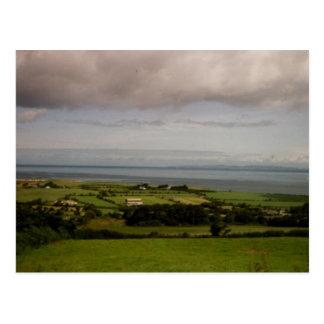 Aerial view Tralee Bay, Kerry, Ireland Postcard