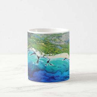 Aerial View Tropical Beach Art Mug