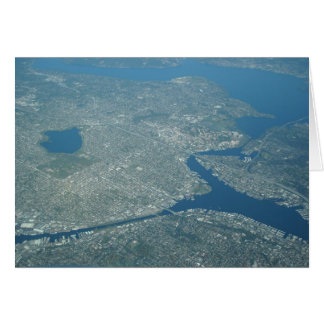Aerial view Univesity of Washington Seattle Card