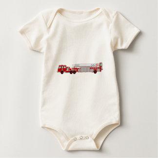 AerialLadderRedRU Baby Bodysuit