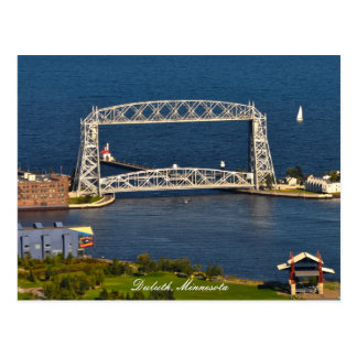Aeriel Lift Bridge Duluth Minnesota Postcard