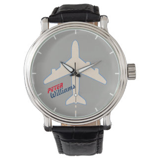 aero style for a pilot or air-lovers watch