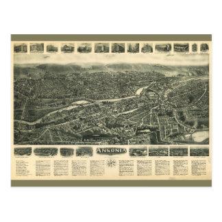 Aero view of Ansonia, Connecticut (1921) Postcard