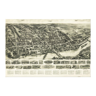 Aero view of Shelton, Connecticut (1919) Gallery Wrapped Canvas