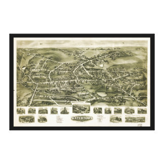 Aero view of Watertown Connecticut (1918) Canvas Prints