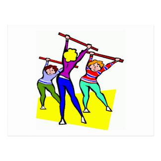 Aerobics Design Postcard