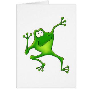 Aerobics Frog Card