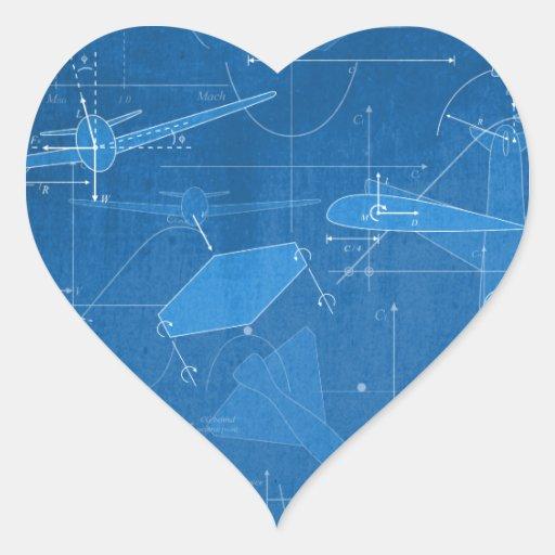 Aerodynamics Heart Stickers