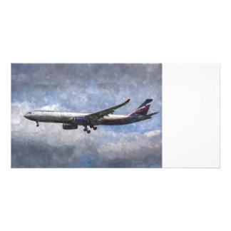 Aeroflot Airbus A330 Art Personalised Photo Card