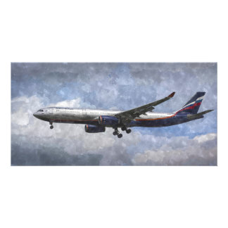Aeroflot Airbus A330 Art Picture Card