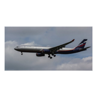Aeroflot Airbus A330 Photo Greeting Card