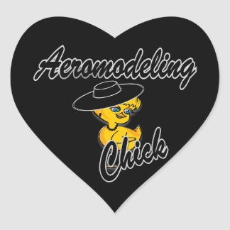 Aeromodeling Chick #4 Heart Sticker