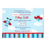 Aeroplane Aviator Baby Boy Baby Shower Invitations