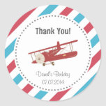 Aeroplane Birthday Thank You Sticker