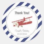 Aeroplane Birthday Thank You Sticker