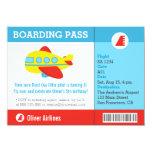 Aeroplane Boarding Pass Birthday Party 11 Cm X 16 Cm Invitation Card