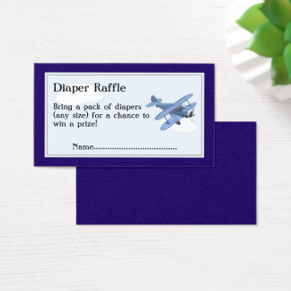 Aeroplane Diaper Raffle Tickets, Clouds and Sky Business Card