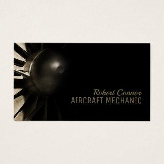 Aeroplane Engine Aircraft Mechanic Business Card
