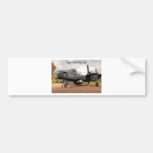Aeroplane fathers day.jpg bumper sticker