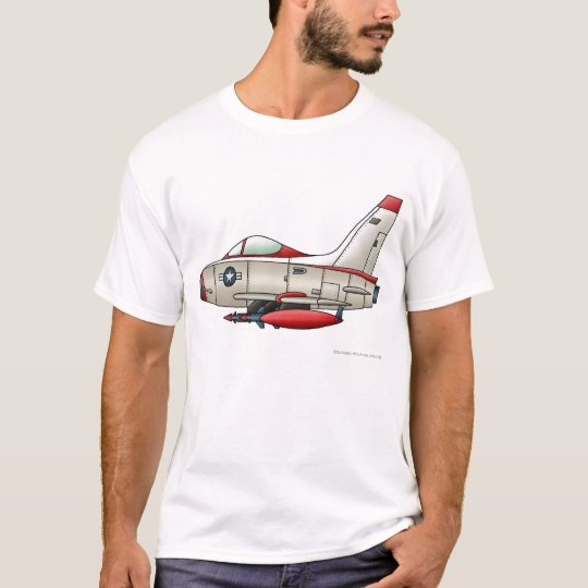 Aeroplane Jet Fighter Military Aircraft Apparel T-Shirt
