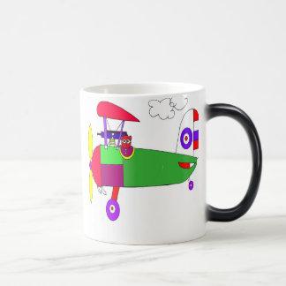 aeroplane morphing mug