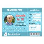 Aeroplane Pattern Boarding Pass Birthday Party 11 Cm X 16 Cm Invitation Card