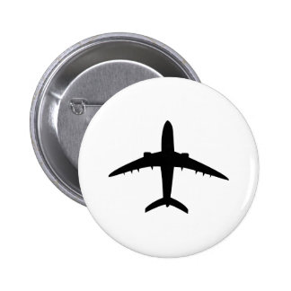 aeroplane plane aircraft icon 6 cm round badge
