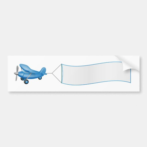 Aeroplane pulling banner bumper sticker