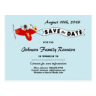 Aeroplane Sky Banner Family Reunion Save the Date Postcard