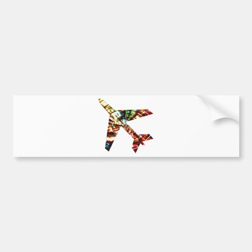 Aeroplane - Sparkling Red Cool Design Bumper Stickers