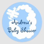 Aeroplane stickers for baby shower