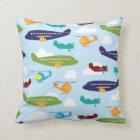 Aeroplane Theme Kids Room Decor Throw Pillows