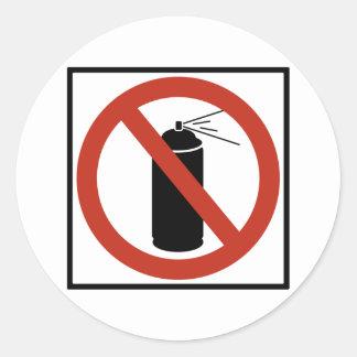 Aerosol Spray Prohibition Highway Sign Classic Round Sticker