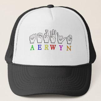 AERWYN FINGERSPELLED ASL DEAF SIGN NAME TRUCKER HAT